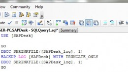 DBCC Shrinkfile SQL Server