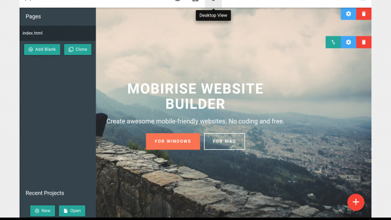 Mobirise Responsive Website Maker